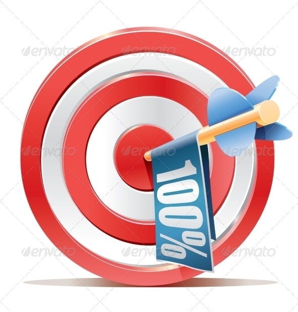 Red Darts Target Aim and Banner 100% - Miscellaneous Conceptual