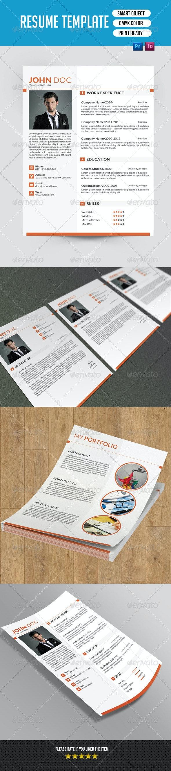 Minimal Resume Template-V02 - Resumes Stationery