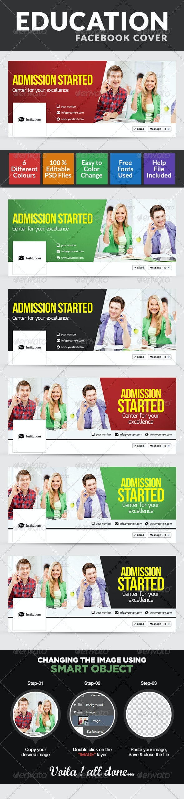 Education & College Facebook Cover page - Facebook Timeline Covers Social Media