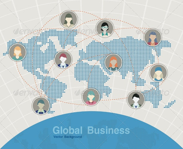 Global Business  - Backgrounds Decorative
