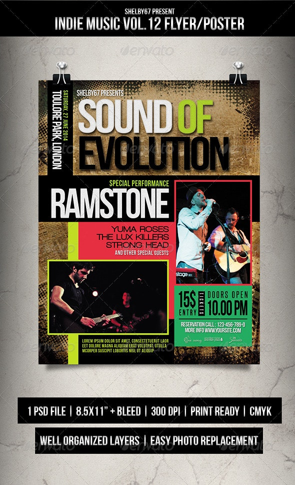Indie Music Flyer / Poster Vol.12 - Events Flyers