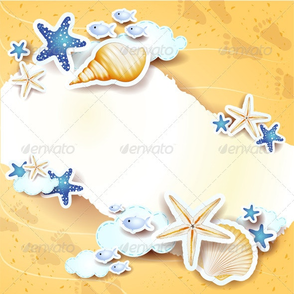 Beach Background with Copy Space - Miscellaneous Seasons/Holidays