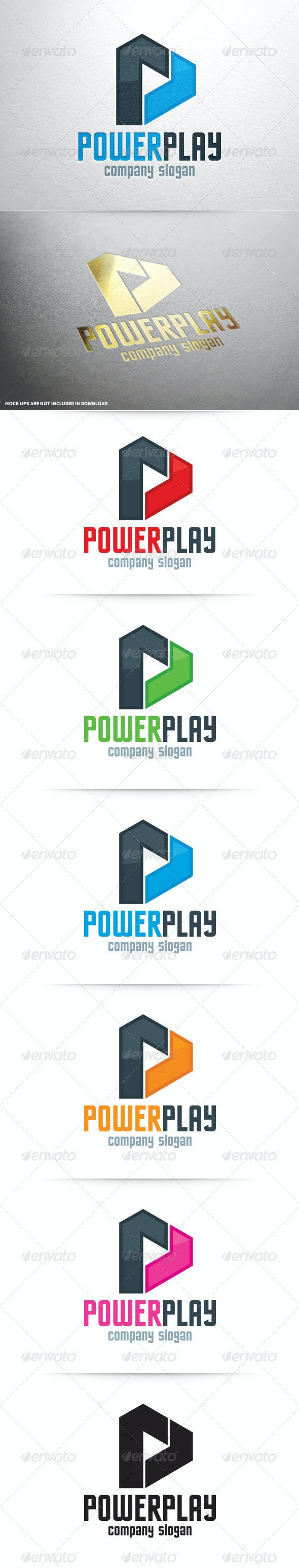 Power Play - Letter P Logo - Letters Logo Templates