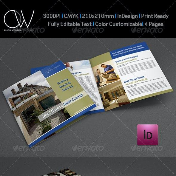 Real Estate Bi-Fold Square Brochure Template Vol.3