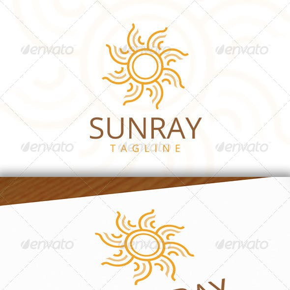 Sun Ray Logo Template