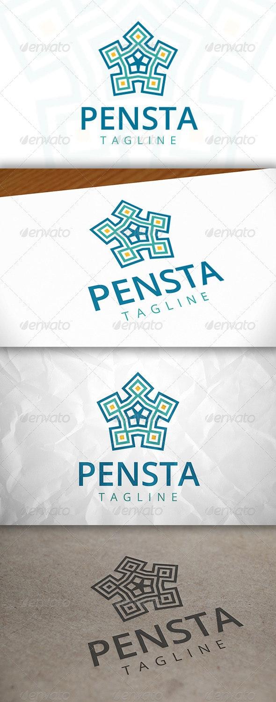 Penta Star Logo - Vector Abstract