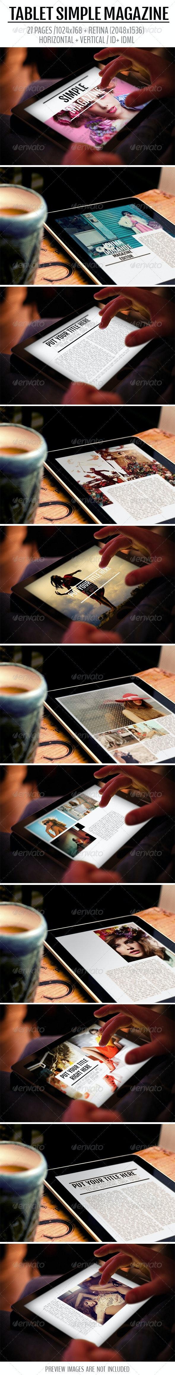 iPad & Tablet Simple Magazine - Digital Magazines ePublishing