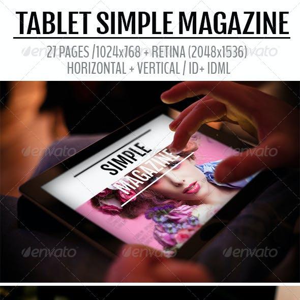 iPad & Tablet Simple Magazine