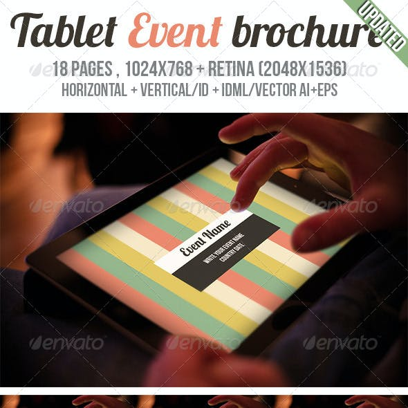iPad & Tablet Event Brochure