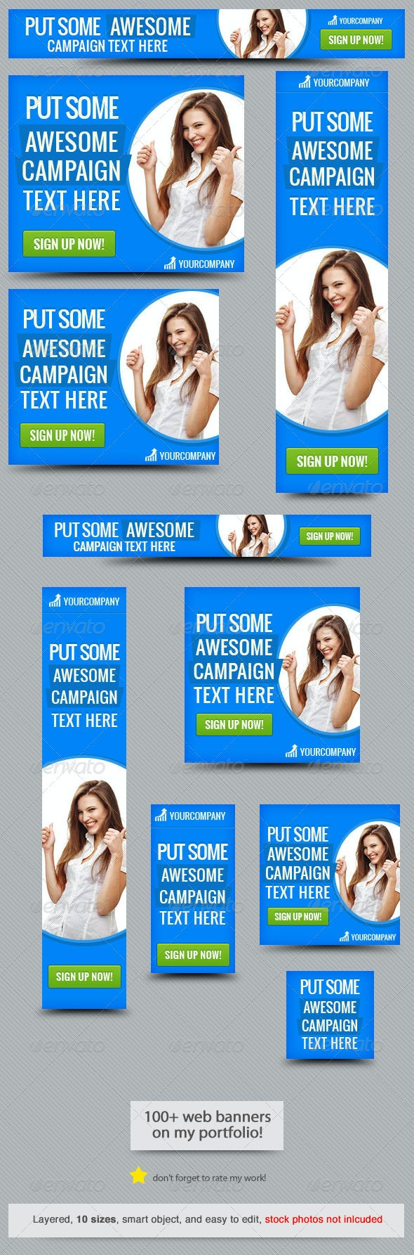 Corporate Web Banner Design Template 41 - Banners & Ads Web Elements