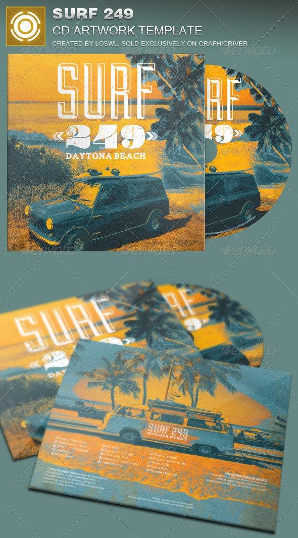 Surf 249 CD Artwork Template - CD & DVD Artwork Print Templates