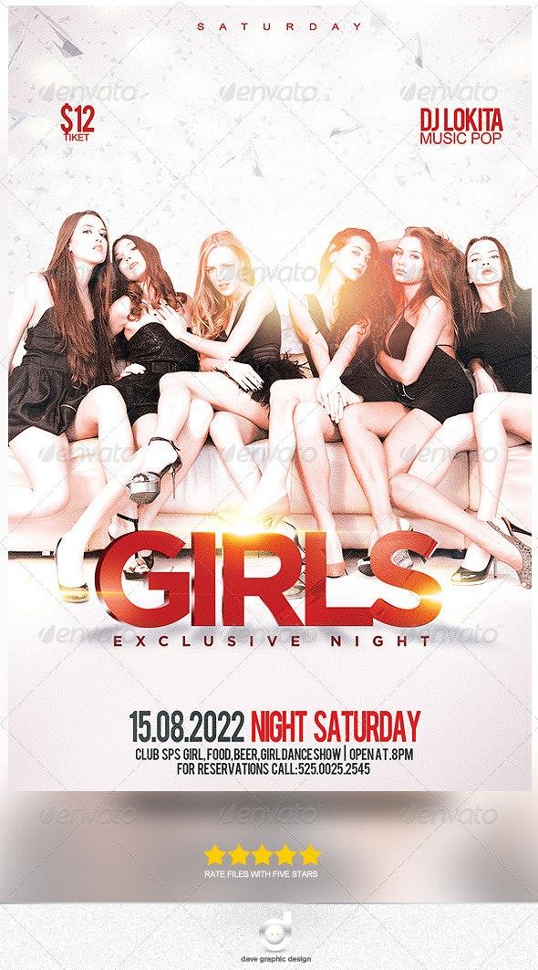 Flyer Girls Night Exclusive - Print Templates