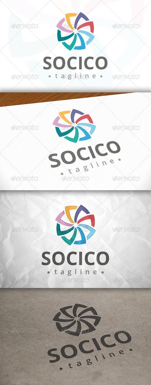Social Shell Logo - Symbols Logo Templates
