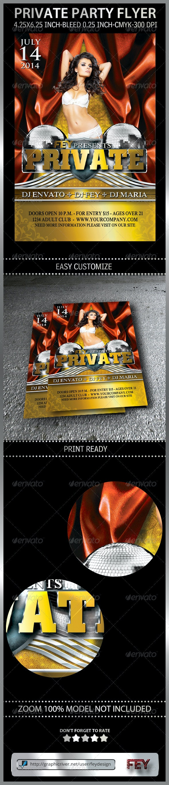 Private Party Flyer - Print Templates