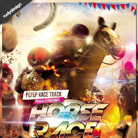 Dramatic Horse Racing Flyer