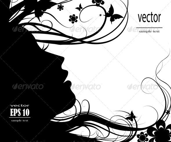 Silhouette of Girl - People Characters