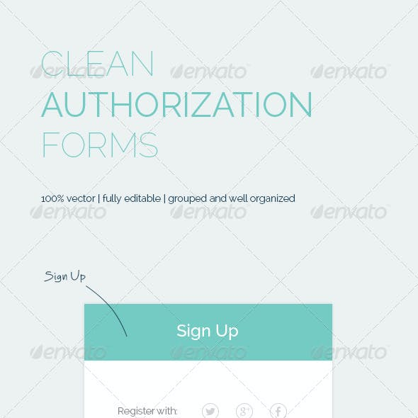 Clean Authorization Forms