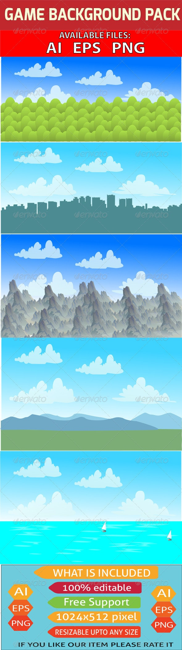 Game Background Pack  - Backgrounds Decorative
