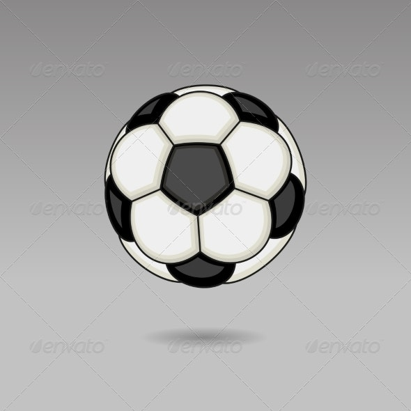 Football Ball on Light Background - Sports/Activity Conceptual