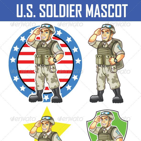 US Soldier Mascot