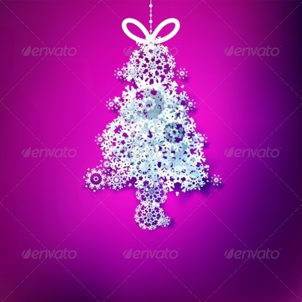 Paper Snowflakes Winter Background - Christmas Seasons/Holidays