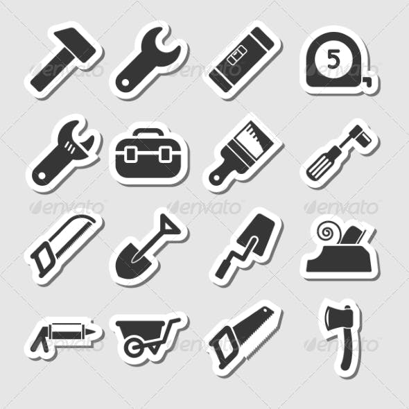 Tools Icons as Labels