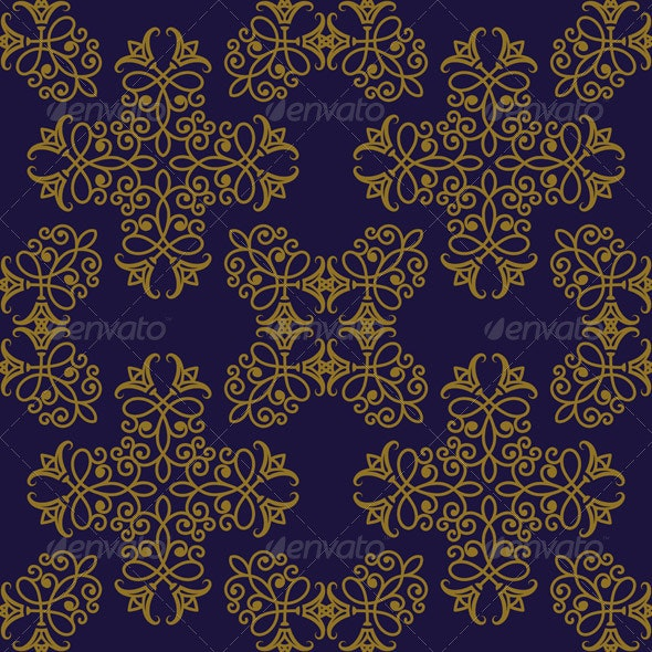 Vector Seamless Pattern in Eastern Style - Patterns Decorative