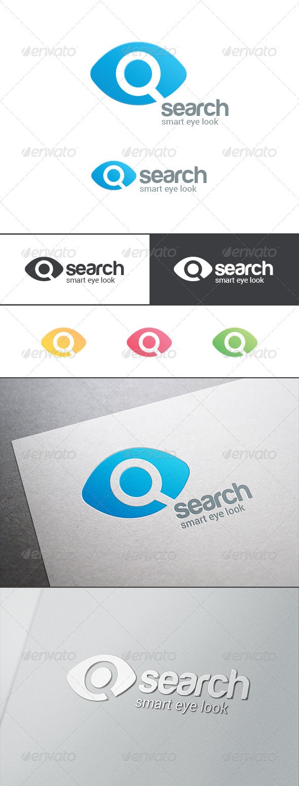 Search Eye Magnified Glass Logo - Symbols Logo Templates