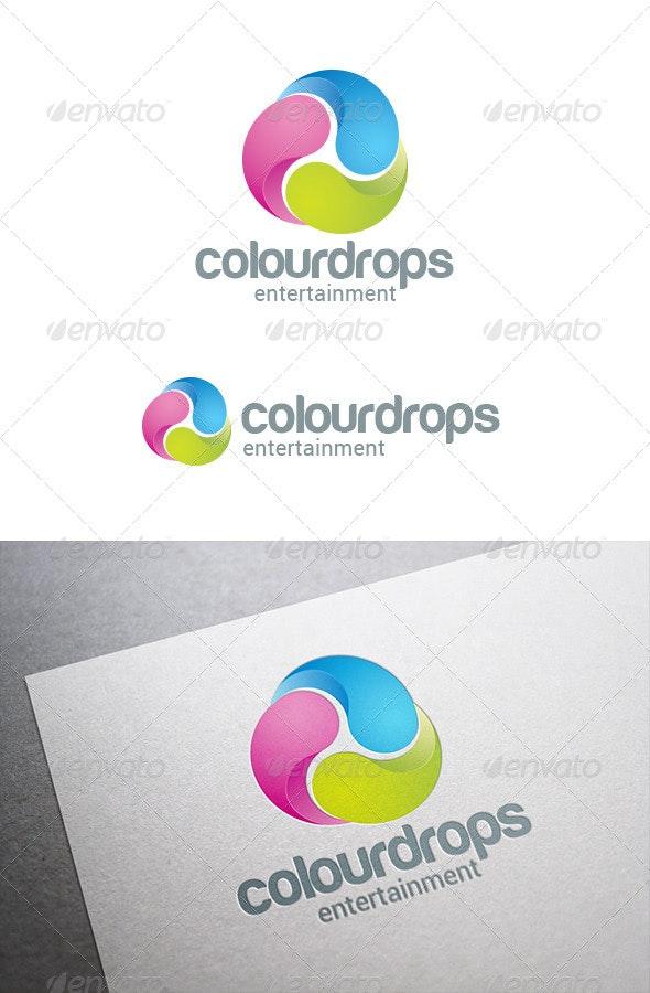 Three Drops Infinite Loop Logo Abstract - Abstract Logo Templates