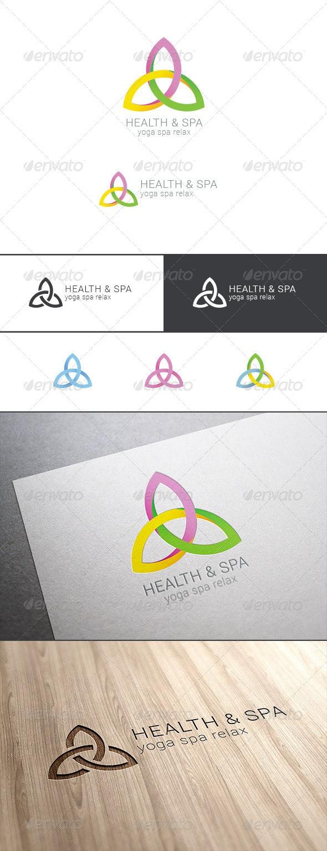Spa Yoga Relax Logo Abstract - Symbols Logo Templates