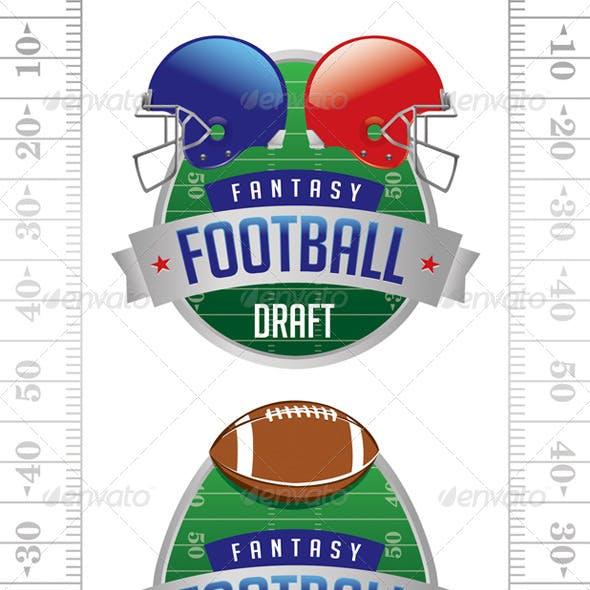 Vector American Fantasy Football Illustrations
