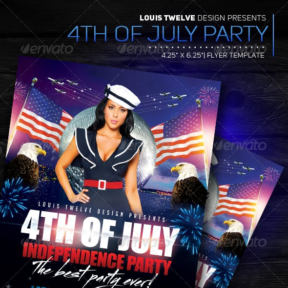 4th of July Independence Day | Flyer Template