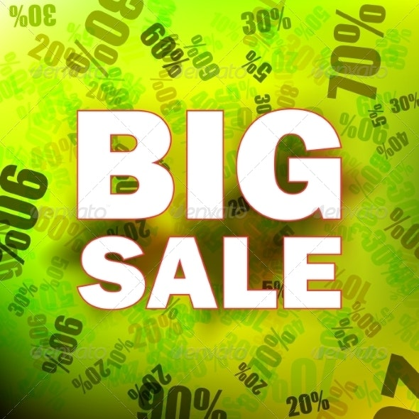 Sale with Percent Discount - Retail Commercial / Shopping