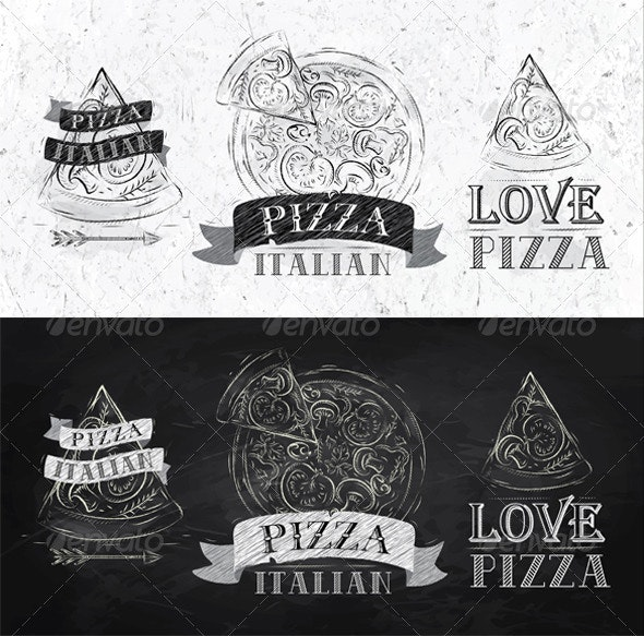 Pizza Symbol - Food Objects