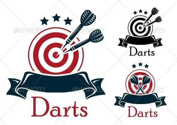 Darts Sports Emblem  - Sports/Activity Conceptual