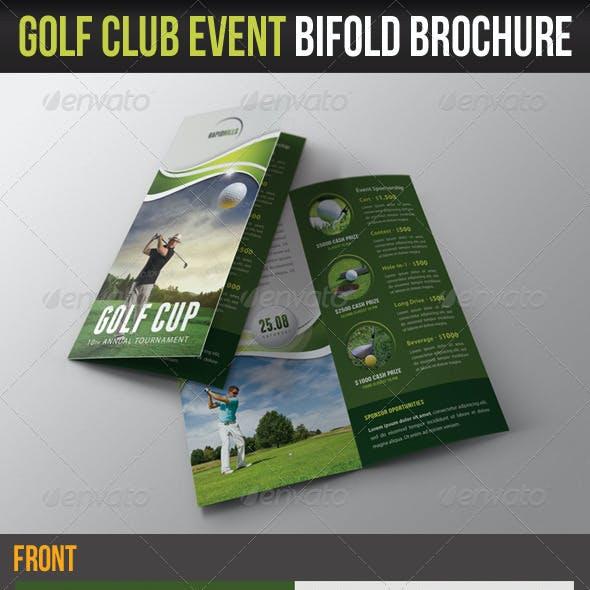 Golf Cup Event Bifold Brochure 01