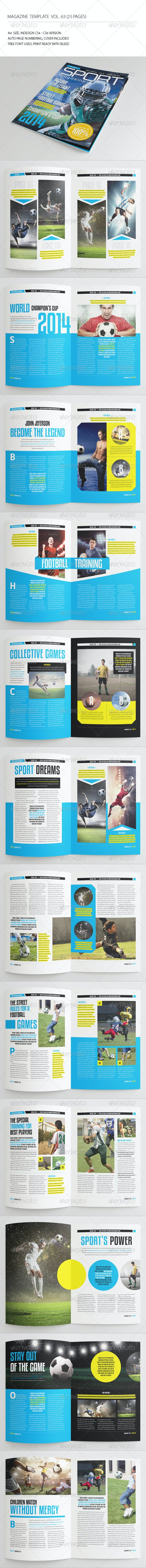 25 Pages Sport Magazine Vol63 - Magazines Print Templates