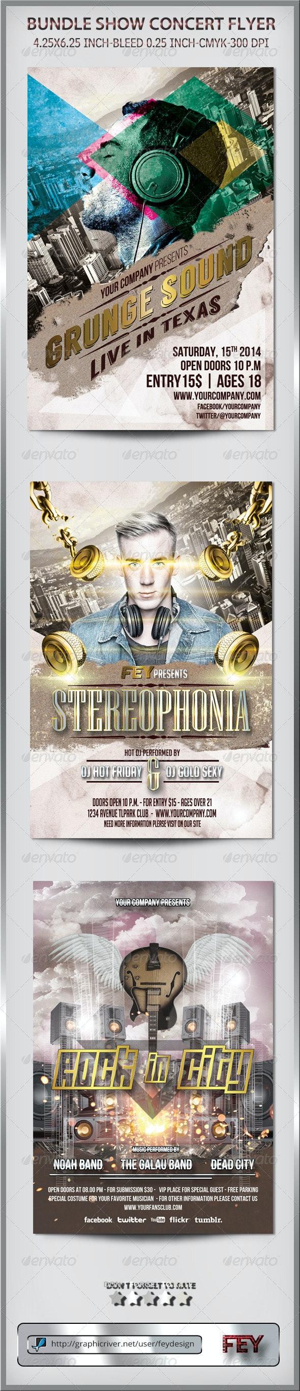 Bundle Show Concert Flyer - Events Flyers