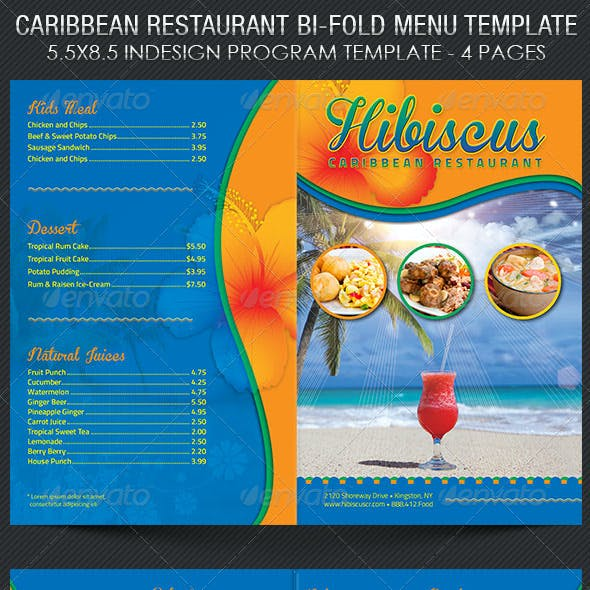 Caribbean Restaurant Menu Template