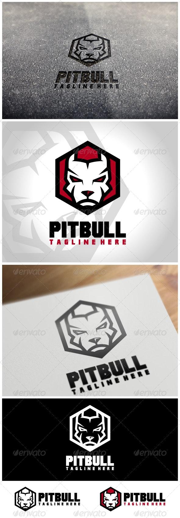 Pitbull Logo Template - Animals Logo Templates