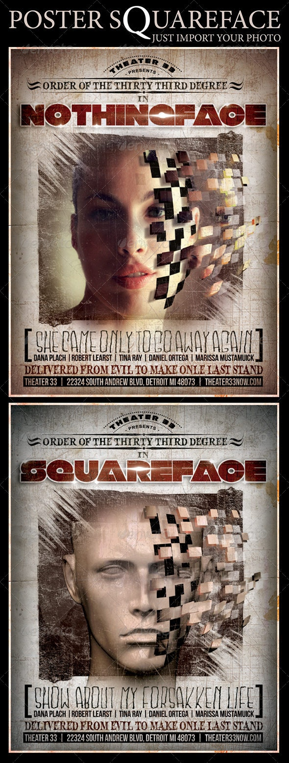 Poster Squareface - Events Flyers