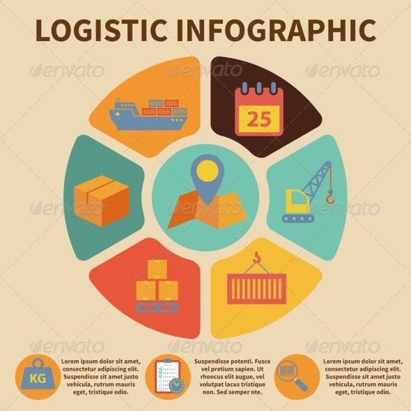 Logistic Infographic Icons - Infographics