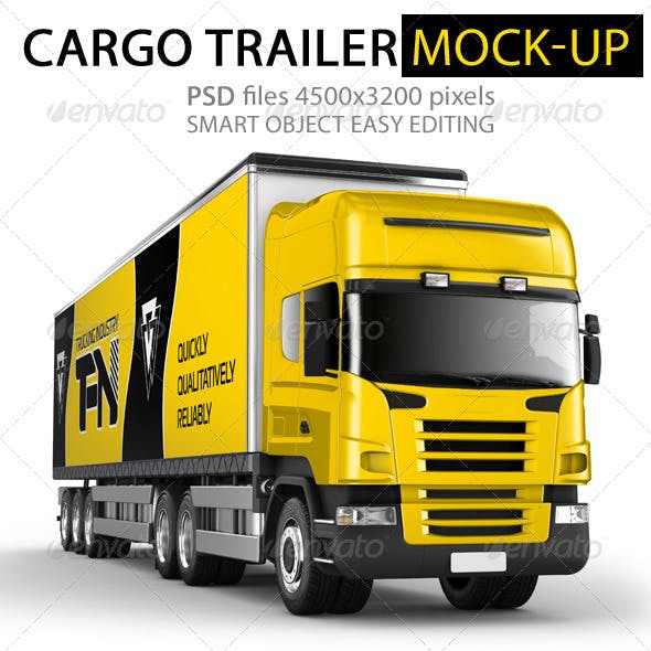 Branded Trailer (Truck) Mock-Up