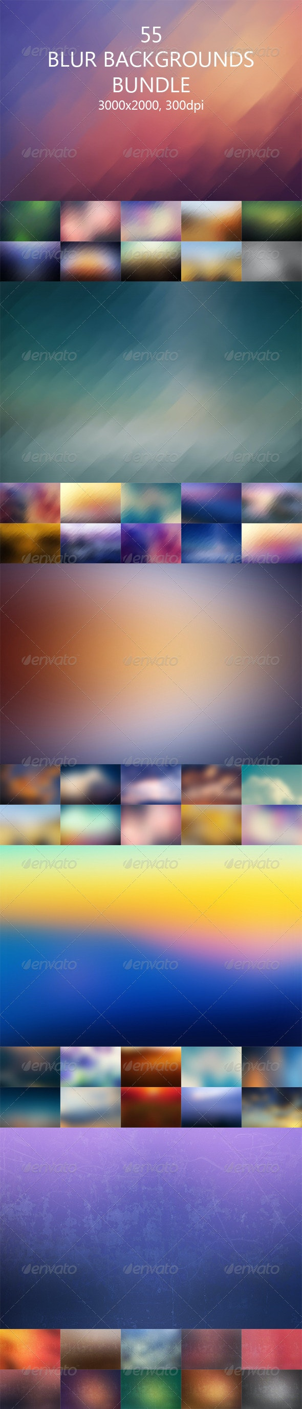Blur Backgrounds Bundle - Abstract Backgrounds