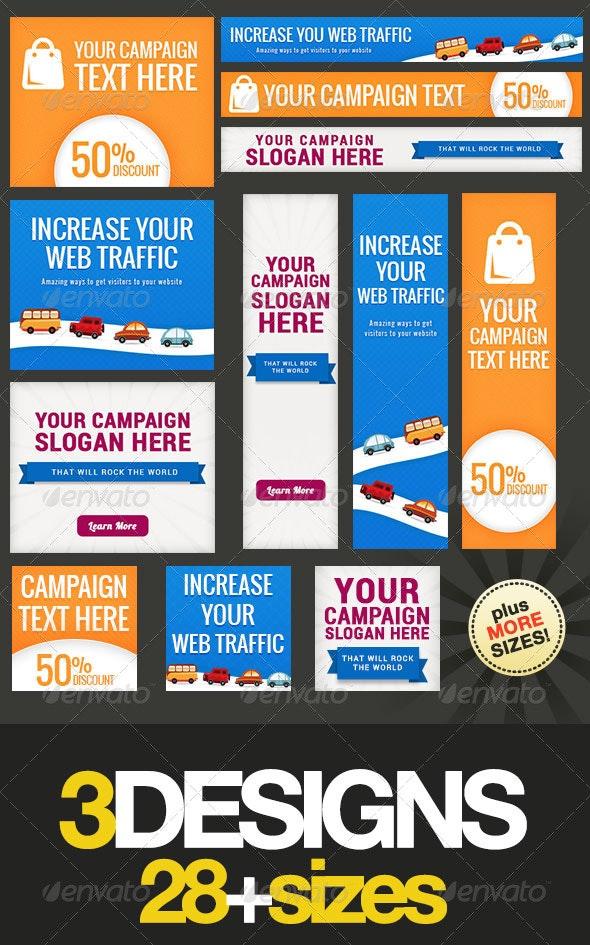 Multipurpose Web Banner Design Bundle 7 - Banners & Ads Web Elements