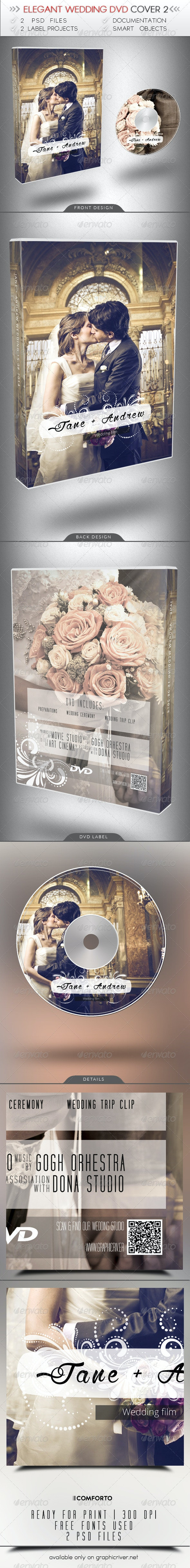 Elegant Wedding DVD Cover 2 - CD & DVD Artwork Print Templates