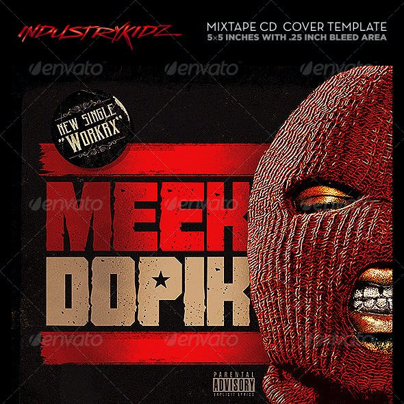 Mixtape Cover Template PSD Hip Hop
