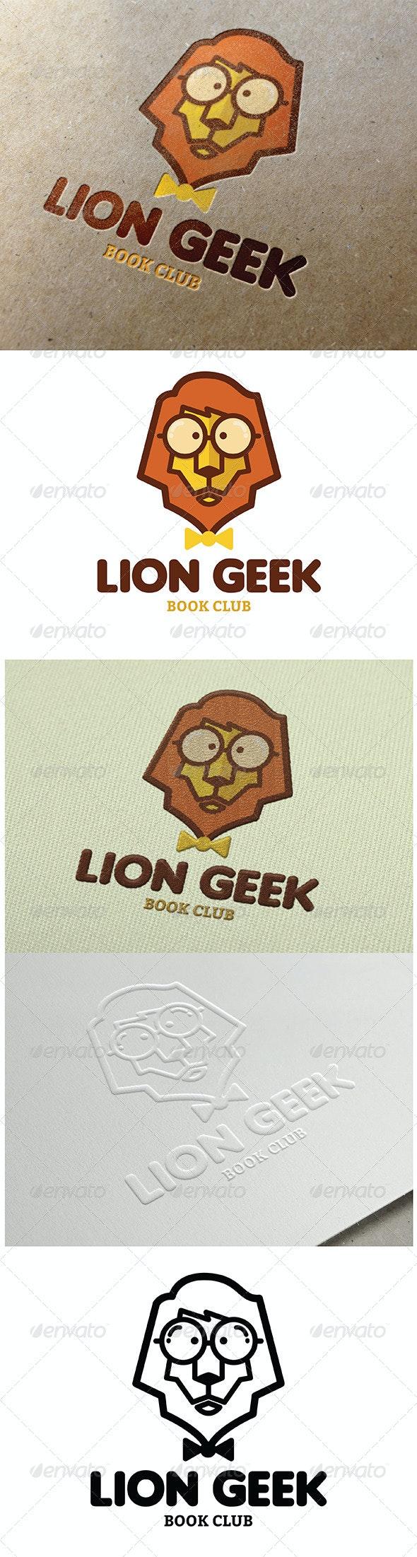 Lion Geek Logo - Animals Logo Templates