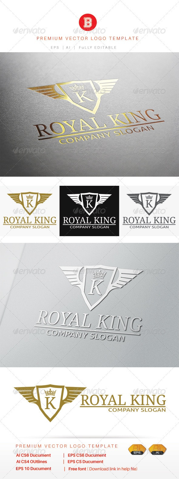Royal King - Animals Logo Templates