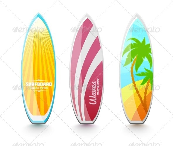 Surfboards For Surfing - Man-made Objects Objects